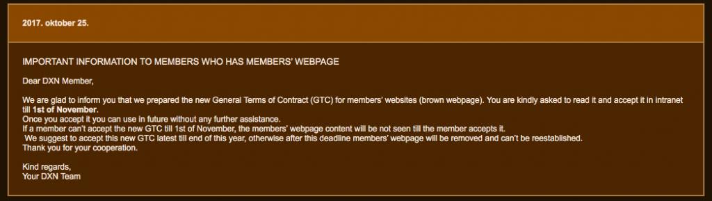 Páginas web marrones dxn