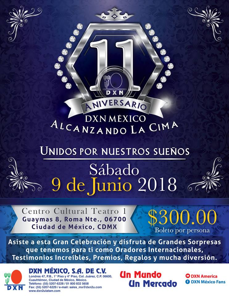 DXN Mexico evento Aniversario