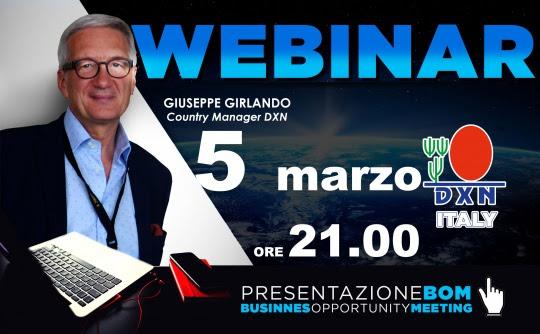 DXN Italia - webinar