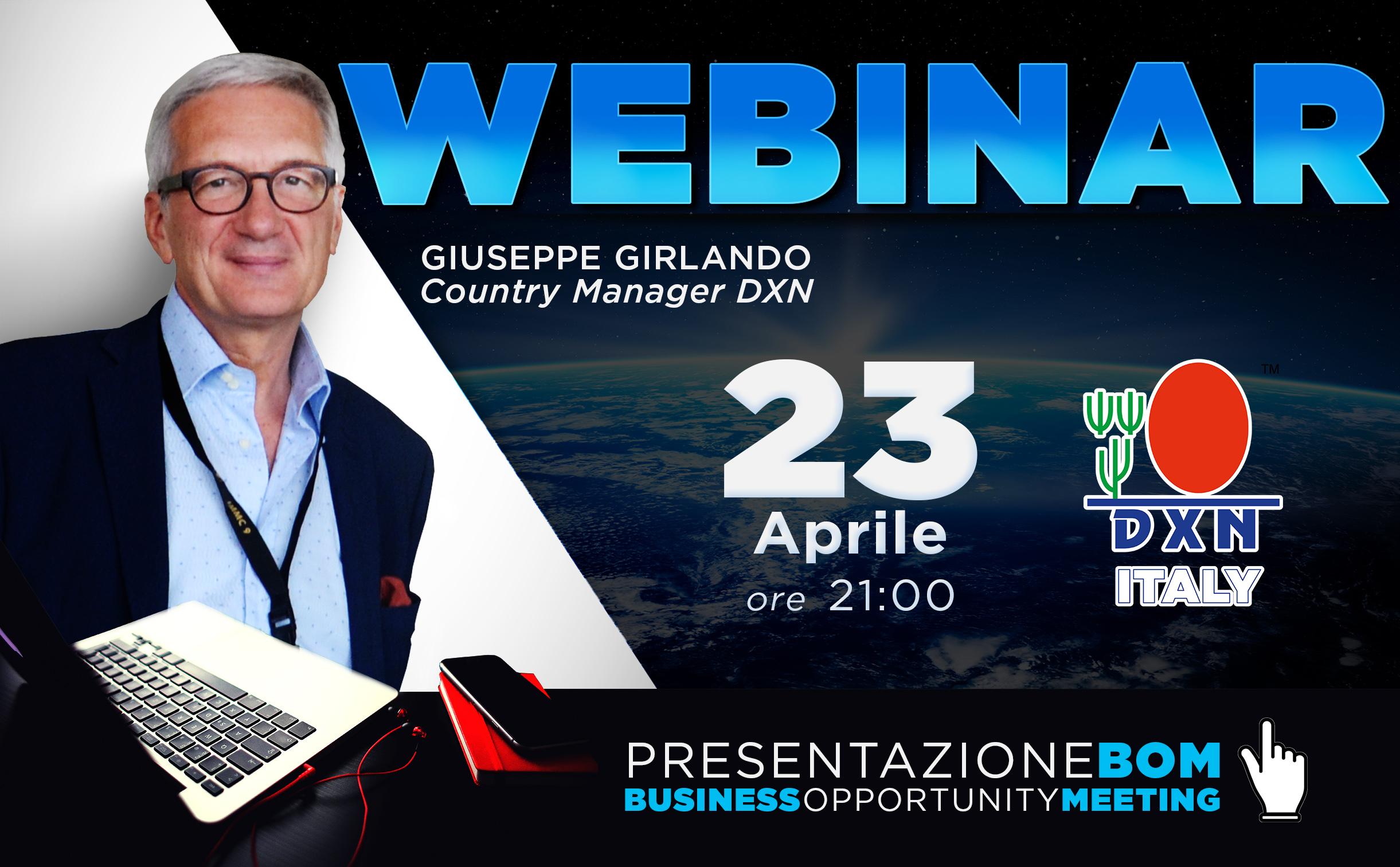 DXN Italia - DXN Italy - webinar 230418