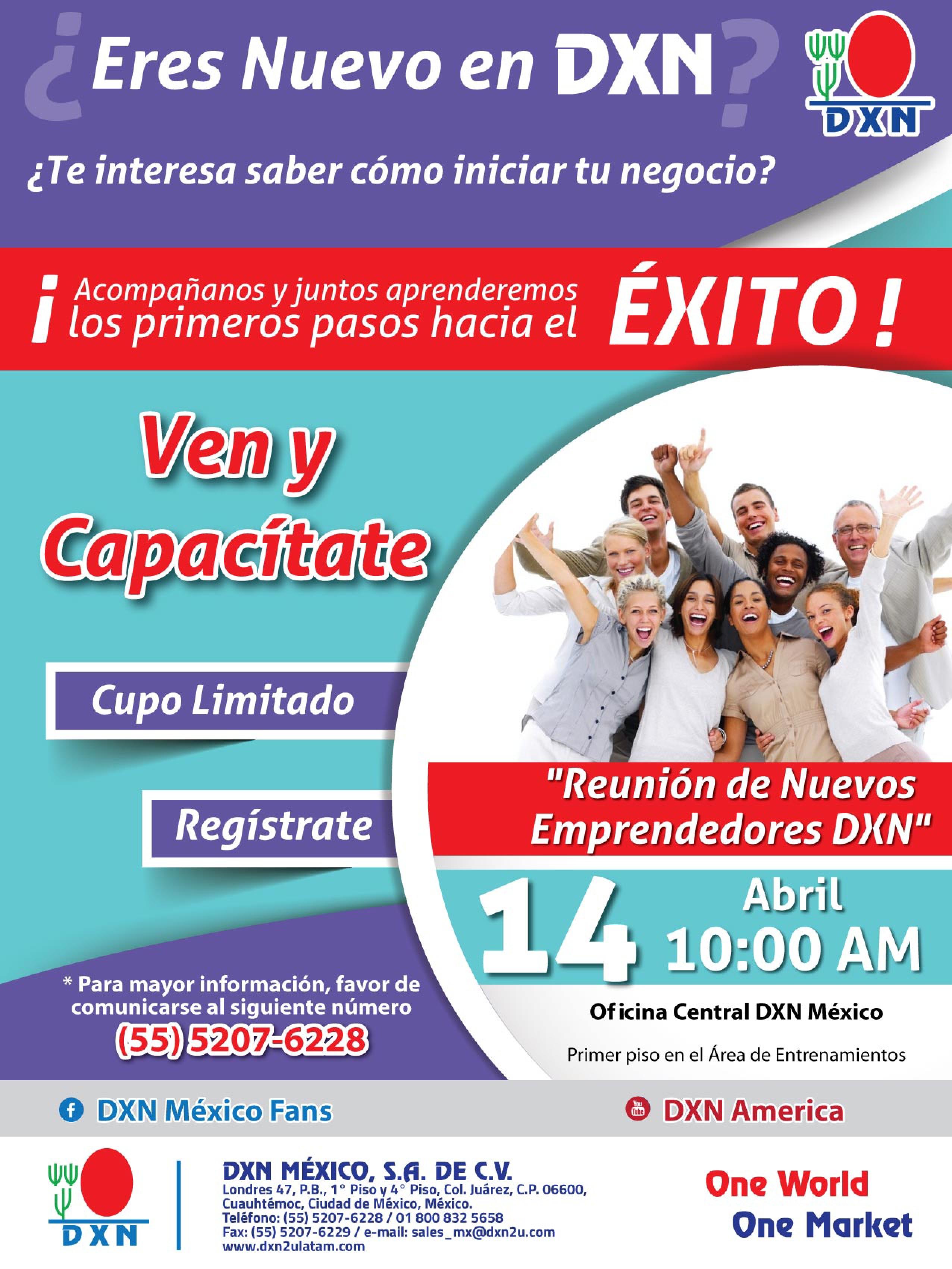 DXN Mexico evento abril
