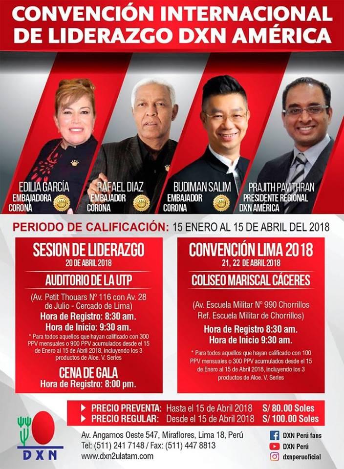DXN PERU - CONVENCIÓN DE LIDERAZGO DE AMÉRICA DXN