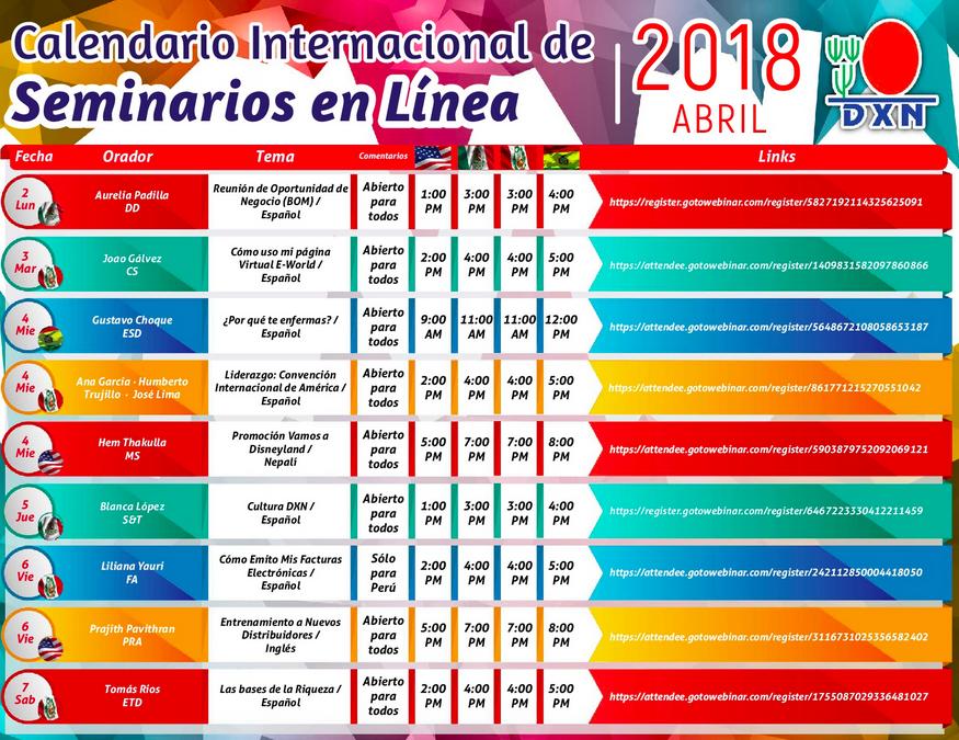 DXN PERU Seminario en Linea Abril 2018 _3