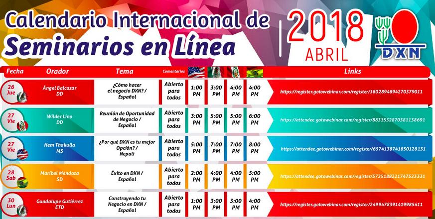 DXN PERU Seminario en Linea Abril 2018 _4