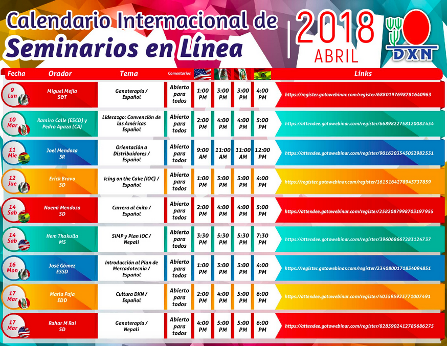 DXN PERU Seminario en Linea Abril 2018_2