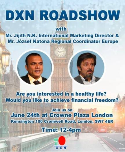 DXN England - DXN Inglaterra