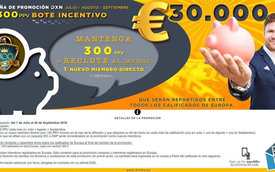 Promoción DXN Europa – 30.000 euros