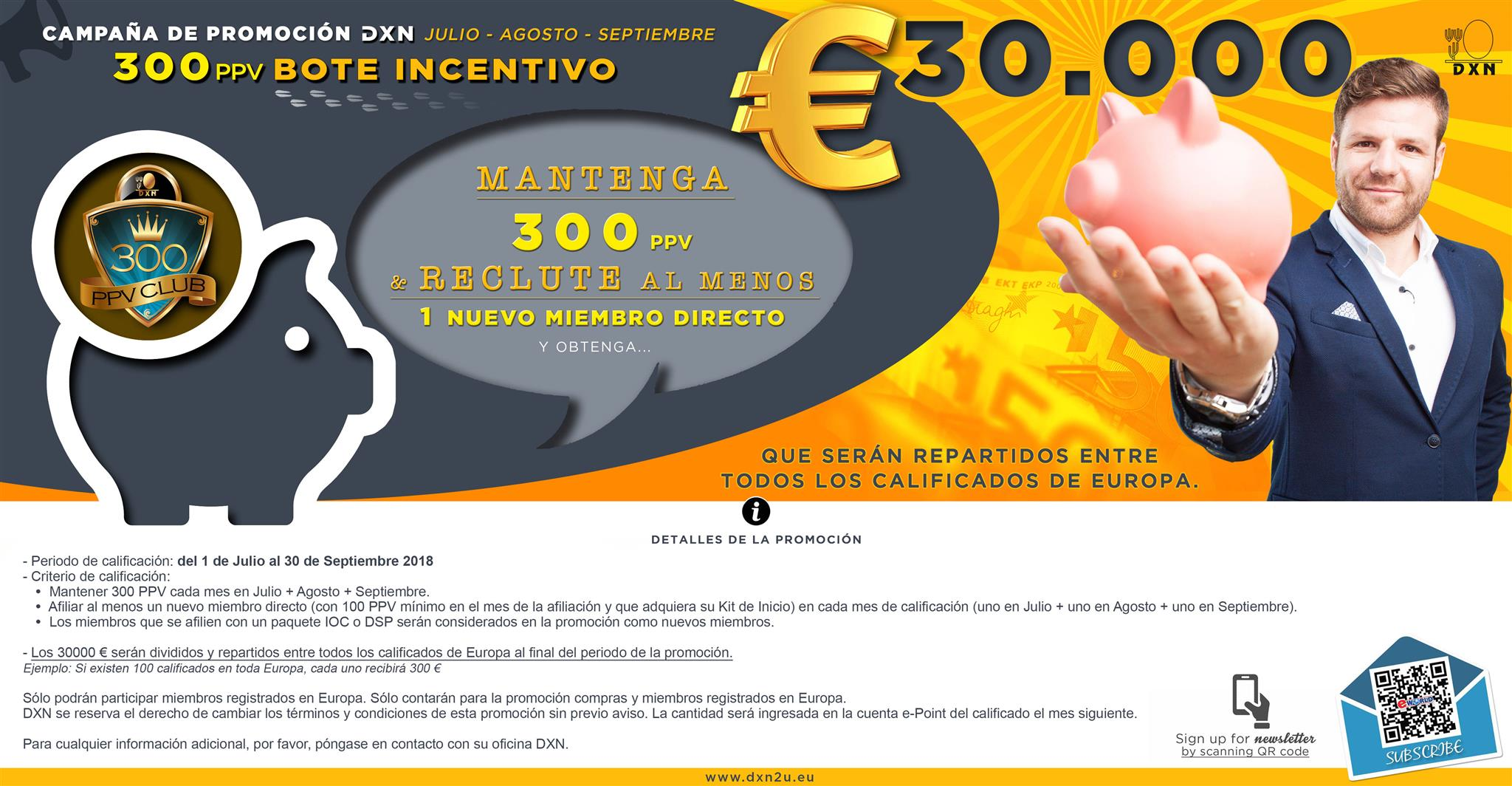 promoción dxn europa 30000 euros